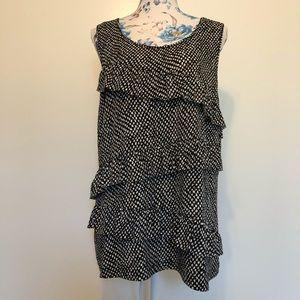 Van-Heusen black & white polka dot sleeveless top